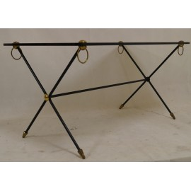 Table Basse Verre & Laiton 1950