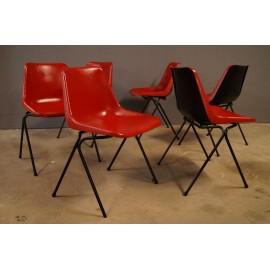 Robin Day Suite de 6 Chaises Design 1960