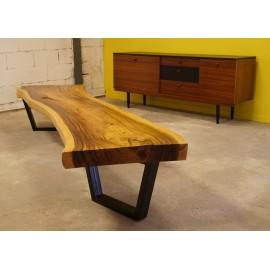 Grande Table Basse en Padouk 1970